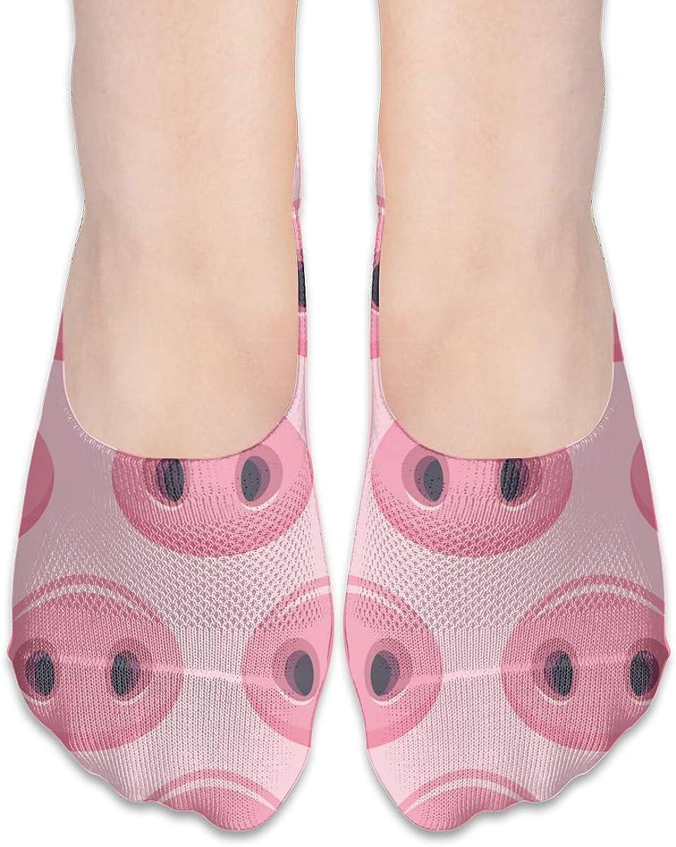 No Show Socks Women Men For Cute Pigs Noses Pink Flats Cotton Ultra Low Cut Liner Socks Non Slip