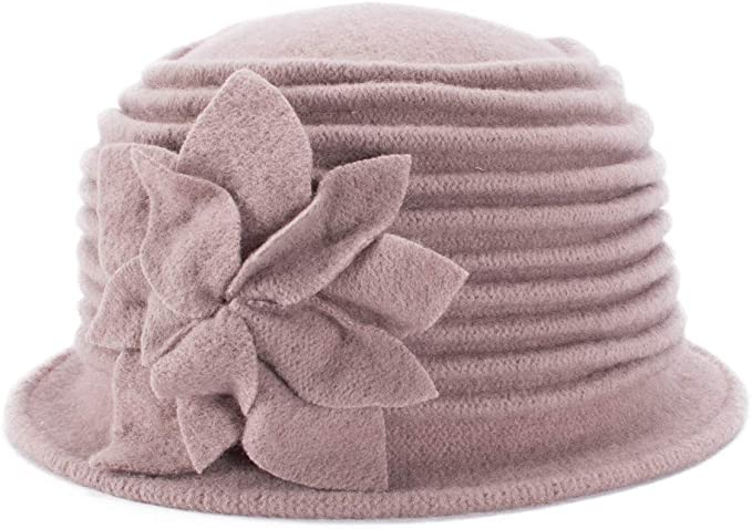 1920s Hat Styles for Women – History Beyond the Cloche Hat Lawliet Womens 1920s Look 100% Wool Beret Beanie Cloche Bucket Winter Hat A543  AT vintagedancer.com