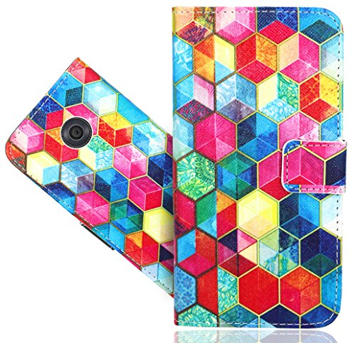 Vodafone Smart First 7 Case, FoneExpert Beautiful Printed Pattern Leather Kickstand Flip Wallet Bag Case Cover For Vodafone Smart First 7