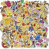Winnie The Pooh Graffiti impermeable Skateboard Maleta de viaje teléfono portátil equipaje pegatinas lindos niños niña juguetes 50 piezas
