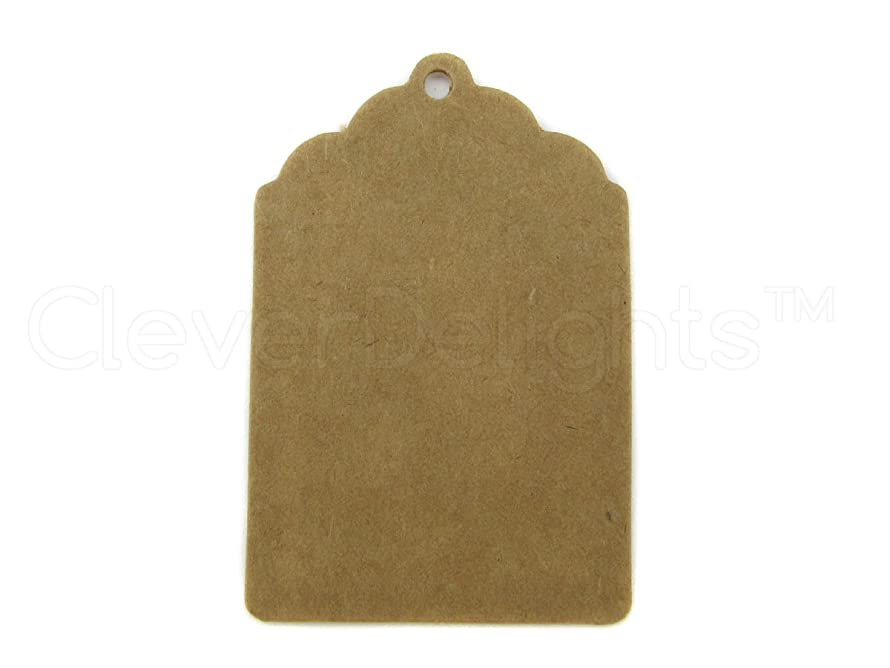 100 CleverDelights Small Kraft Gift Tags - 2.25