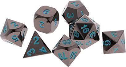 Blesiya 7Piece Multi-Sided Dice 15mm D4-D20 Numeral for D&D RPG Warhammer Toy - Blue