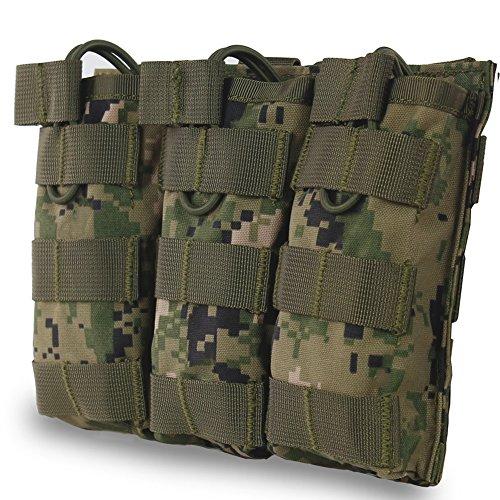 XUE Magazin Pouch Pistole Flecktarn für M4 M16 AR-15 Magazintasche Airsoft Magazin Tasche Tactical Molle Rucksack Weste Belt Zubehör