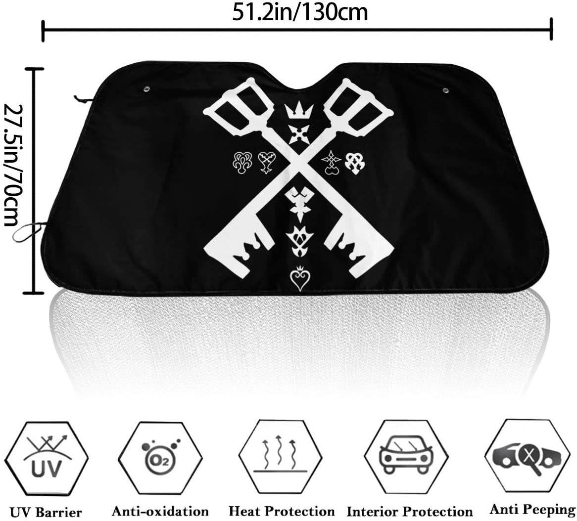 REECECAM Kingdom Hearts Windshield Snow Cover No More Scraping Car Fits Most Car 51.2 X 27.5