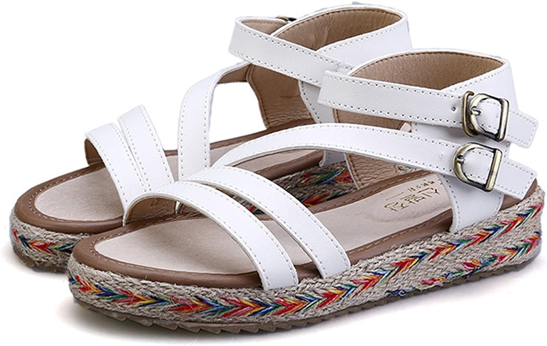 Womens Light Weight Platform Double Buckles Slide Sandal Summer Dress Sandal