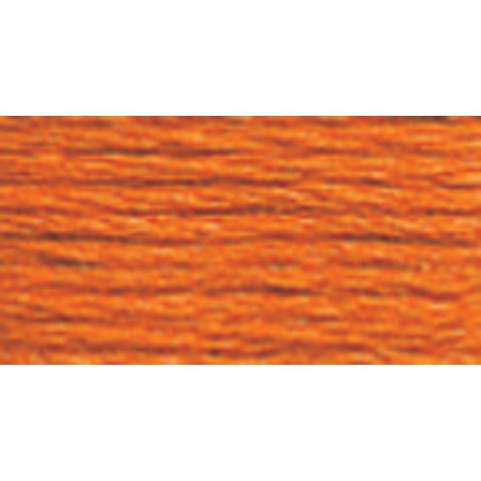 DMC 117-721 Six Strand Embroidery Cotton Floss, Medium Orange Spice, 8.7-Yard