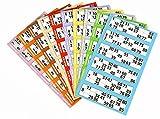 600Tickets de bingo-100pages/bandes de 6-Couleur peut varier