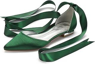 Ballerine in Pelle Piatte da Donna e Tacco Aperto Tacco 1 cm GENNIA Carling Chiusura con Fibbia