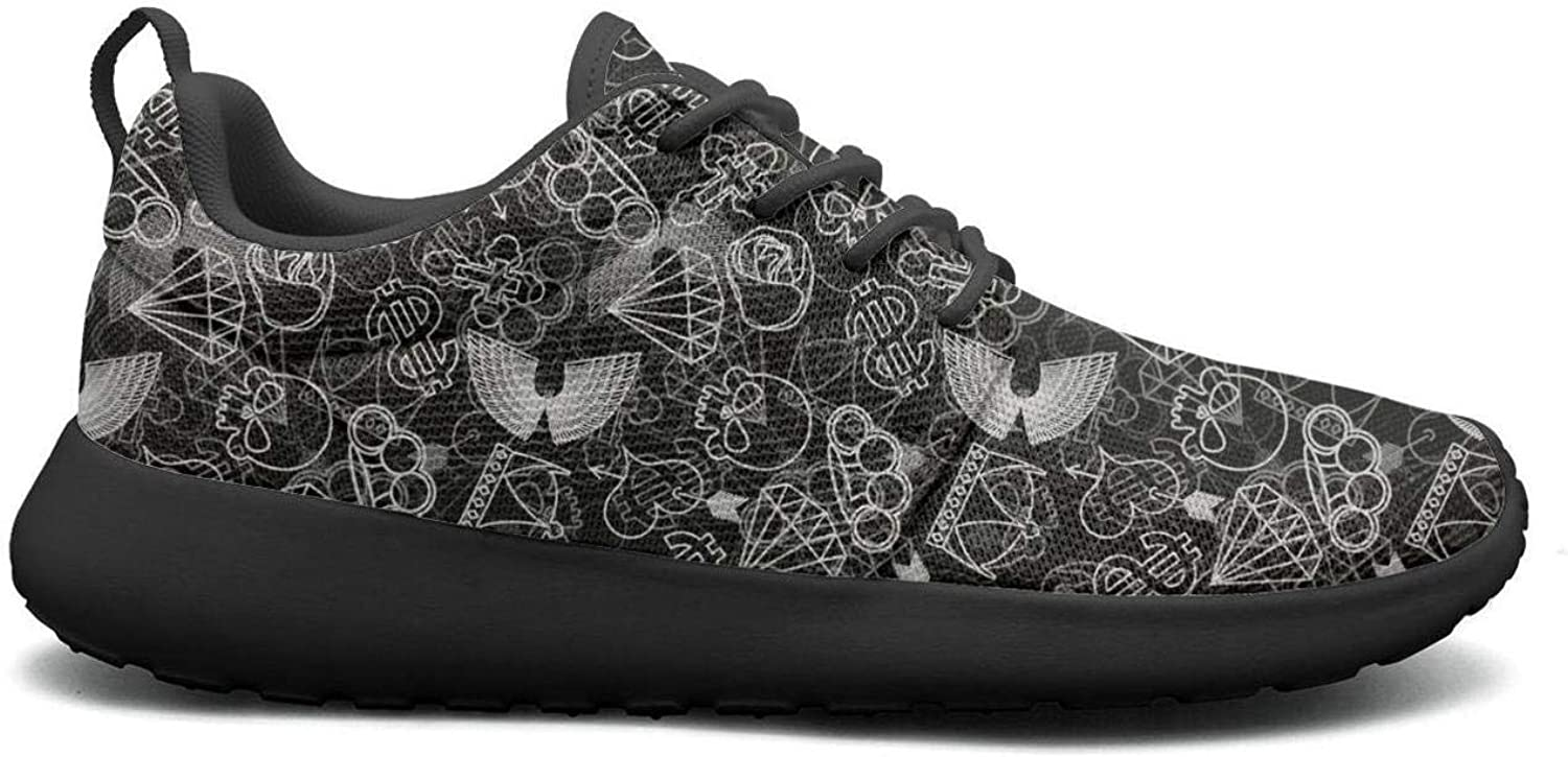 Wuixkas Skull and Brass Knuckles Womens Lightweight Mesh Sneakers Cool Walking shoes