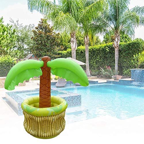 basku Dispositivi di raffreddamento gonfiabili della palma, Rifornimenti gonfiabili portatili del partito a tema della spiaggia del cocco Dispositivo di raffreddamento della piscina galleggiante