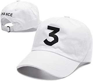 ZZURCCA Number 3 Baseball Cap Embroidered Adjustable Chance The Rapper Hip  Hop Hats 1a2395e589e1