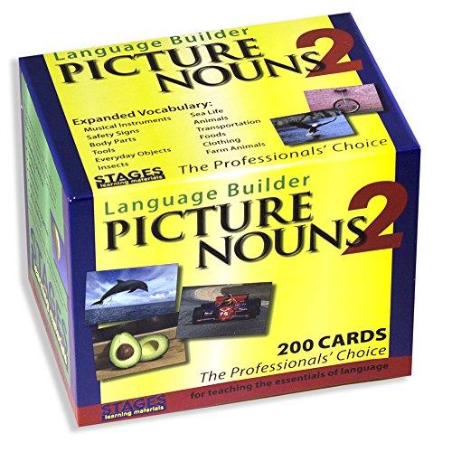Stages Learning Materials Language Builder Picture Noun Flashcards 2Advanced autismo apprendimento vocabolario Fotografia del Prodotto: autismo Education, ABA Terapia