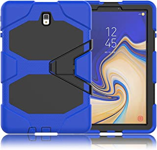 Galaxy Tab S4 10.5 Case, ZERMU Heavy Duty Kickstand Shockproof Hard Plastic+Silicone Defender High Impact Rugged Bumper Full-Body Protective Case for Samsung Galaxy Tab S4 10.5 Inch 2018 SM-T830 /T835