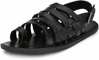 GUAVA Men Anti-Sweat Leather Sandals - Black