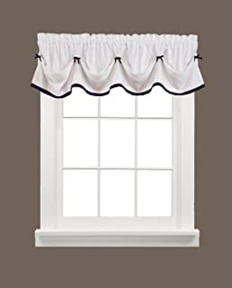 SKL Home by Saturday Knight Ltd. Kate Valance, Black, 58 inches x 13 inches