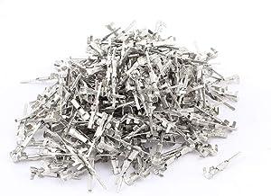 X-DREE 500pcs Silver Tone Male Spade Crimp Terminals 1.5mm Wiring Connectors (7e1bd272-a222-11e9-8d7c-4cedfbbbda4e)