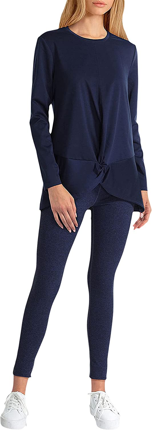 H Halston Long Sleeve Twist Front Pullover