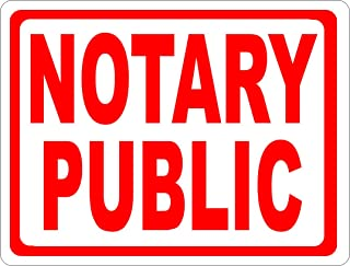 Notary Public Sign. 9x12 Metal. Made in USA. Notaries Business
