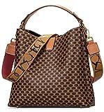 IBFUN Women Satchel Handbag Purse Ladies Leather Vintage Top Handle Tote Handbag