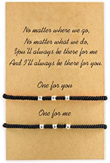 MANVEN Pinky Promise Relationship Matching Bracelets for Best Friends
