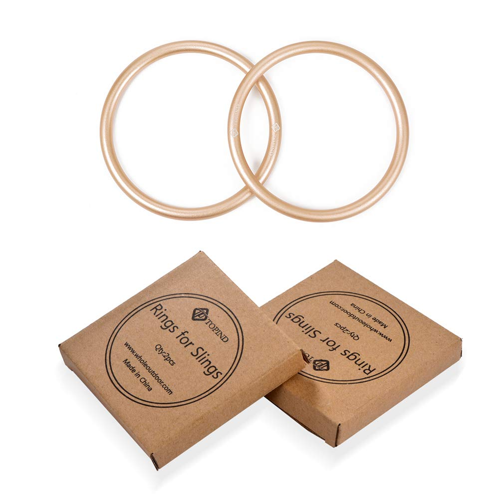 TOPIND 3 inch Aluminum Rings for Baby Slings and Baby Carrier, Sling Rings Wraps Carriers Durable Anodized Aluminum Rings Lead and Nickel Free, lab Tested for Strength and Safety (Rose Gold)