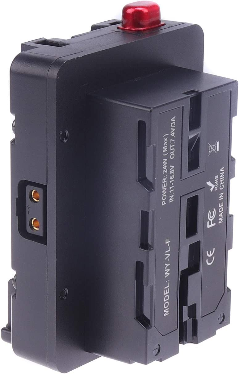 Foto4easy V-Lock Tucson Mall V Mount D-tap Battery NP-F970 F96 NP-F to Plate sale