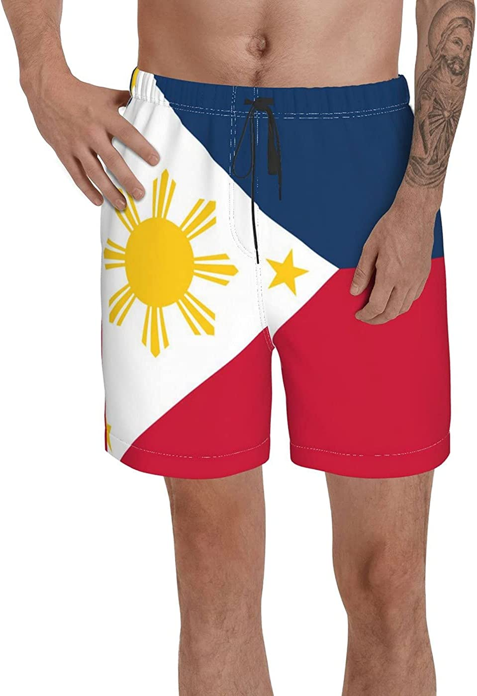 Count Philippine Outdoor Flags Men's 3D Printed Funny Summer Quick Dry Swim Short Board Shorts with