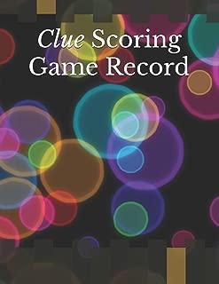 Clue Scoring Game Record: Clue Score Sheet Record | Clue Scoresheet | Clue Game Sheets | Clue Classic Score Sheet Book | Clue Scoring Game Record | Clue Score Card Notebook