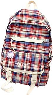 LMJ Bolsas de Colegio de Coincidencia de Colores Enrejado Casual Daypacks Unisex Refrescante Secundario Puerto Colegio Estudiantes Mochilas Viajes Escolares (Color : B)