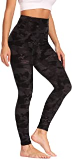 CAMPSNAIL Women High Waisted Leggings - Printed Soft Tummy Control Slimming Yoga Pants for Workout Athletic Running