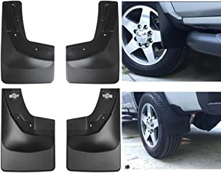 Wyness Mud Flap Guard No-Drill Digital 110035-120035 for 2014 2015 2016 2017 2018 Chevrolet Silverado 1500 2500HD 3500HD Pickup