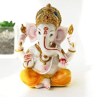 BangBangDa India Ganesh Statue Home Pooja - Hindu Murti Temple Elephants Ganpati - Indian Small Ganesha Collections Diwali...