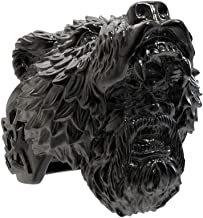 eejart Viking Bear Stainless Steel Rings for Men Warrior Silver Black Biker Ring Fashion Jewelry