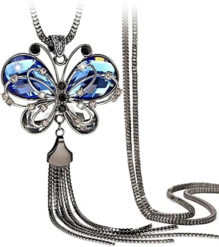 Shining Diva Fashion Jewellery Butterfly Pendent for Girls with Long Chain Pendant Party Stylish Necklace for Women &...