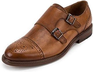 Chaussures Monk hommes,Slip-on Chaussures en cuir d'affaires Chaussures Boucle Robe Banquet Chaussures de marche urbaine T...