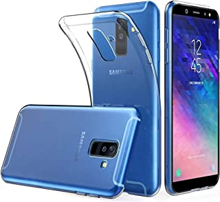 SharpEseller Ultra Hybrid Back Cover Case Designed for Samsung Galaxy A6 Plus - Crystal Clear