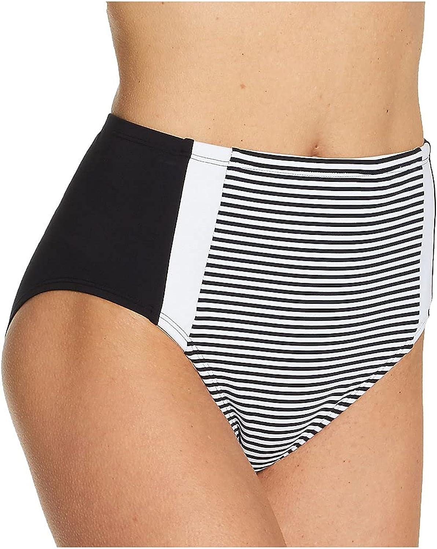 Bleu Rod Beattie Inside The Lines High-Waist Bikini Bottoms