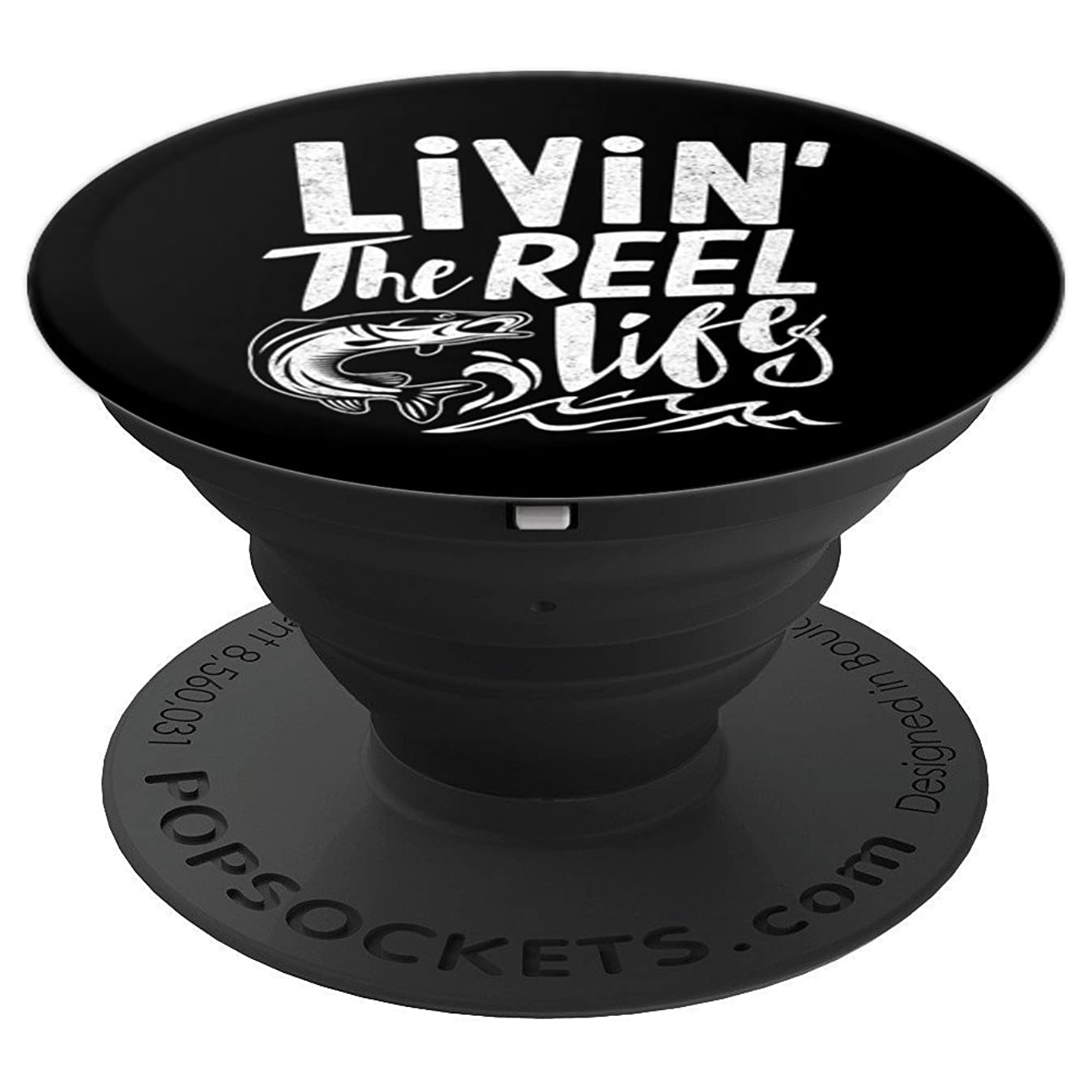 Fishing shirts for any Fisherman Livin the re - PopSockets Grip and Stand for Phones and Tablets e9888742007