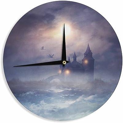 Kess InHouse Viviana Gonzalez Calling The Sun III Blue Black Wall Clock 12