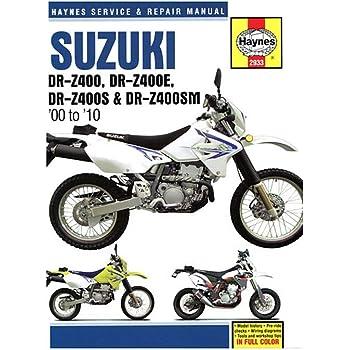 Amazon Com Clymer Repair Manual For Suzuki Drz400e S Sm 00