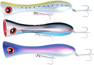 Dr.Fish Saltwater GT Popper Fishing Lures Topwater VMC Treble Hooks Surf Fishing Offshore Big Game Wire Through Heavy Duty