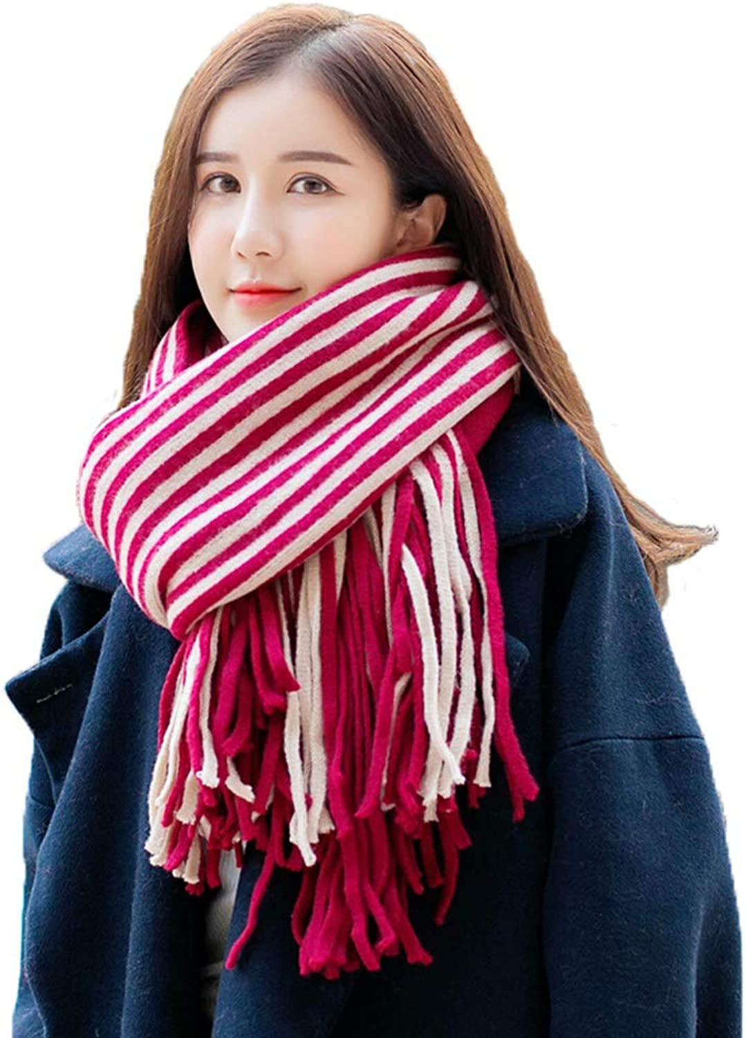 XY Winter Women's Scarf  DoubleSided Thick Warm Couple Shawl Collar Long Dualuse Scarves (color   A)