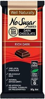 Well Naturally No Sugar Added Rich Dark Chocolate Bar 90 g