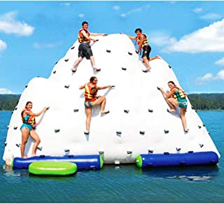 Floating on Water Inflatable Iceberg Water Toy with Climbing Handle (White)