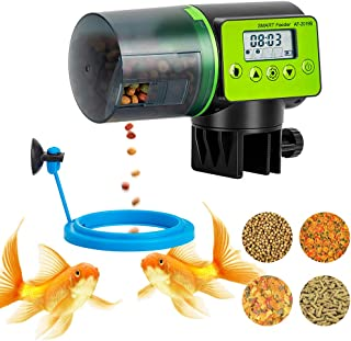 Automatic Fish Feeder, Vacation Fish Feeder, Moisture-Proof Electric Auto Fish Feeder, Digital Fish Food Dispenser 200Ml Capacity for Vacation, Daily, Business Trip, Weekend