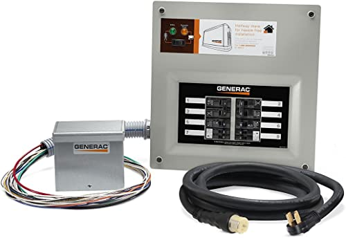 new arrival Generac 9855 HomeLink 50-Amp Indoor Pre-wired Upgradeable Manual Transfer Switch Kit for 10-16 circuits - online sale Includes wholesale Power Inlet Box and 10-ft Cord outlet online sale