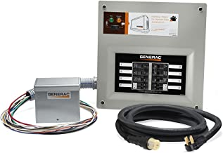 Generac 9855 HomeLink 50-Amp Indoor Pre-wired Upgradeable Manual Transfer Switch Kit for 10-16 circuits - Includes Power Inlet Box and 10-ft Cord