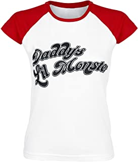 Suicide Squad Officially Licensed Merchandise Daddy´s Lil Monster Baseball Girly tee