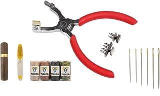 レザークラフト 工具 サイレント菱目打ち 道具 菱目打ち キット 蝋引き糸付き 収納ケース付き 専用針 2歯 4歯 目打ち