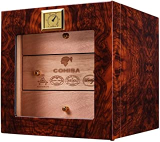 Cigar Humidors Large-Volume Natural Mellow Cedar Wood Cigar Box Cigar humidor (Color : Brown, Size : 26 * 24 * 24cm)